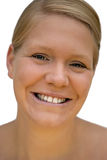 Happy woman. Portrait of a young happy blond woman Stock Images