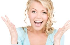 Happy woman Royalty Free Stock Photography