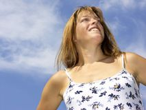 Happy woman. Happy smiling woman Royalty Free Stock Image