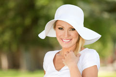 Happy Woman. A young woman laughing stock photography