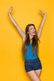 Happy Woman With Arms Outstretched Stock Photography