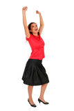 Happy woman with arms raised Royalty Free Stock Photo