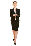 Happy woman as concierge Stock Image