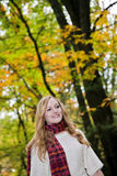 Happy woman autumn Royalty Free Stock Image