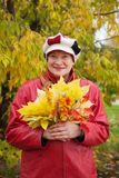 Happy woman in autumn Royalty Free Stock Photography