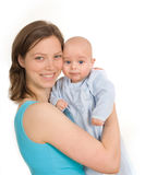 Happy woman with baby Stock Photo