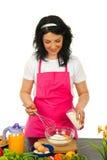 Happy woman baking Royalty Free Stock Photo