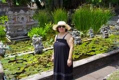 Happy woman in Bali Stock Photo