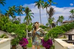 Happy woman in Bali Royalty Free Stock Photos