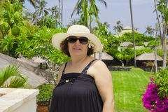 Happy woman in Bali Stock Photography