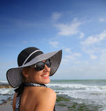 Happy Woman on the beach Royalty Free Stock Image