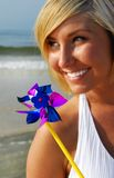 Happy Woman at Beach Royalty Free Stock Image