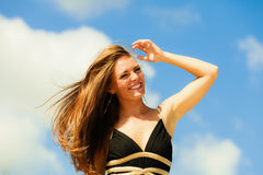 Happy woman on beach Royalty Free Stock Image