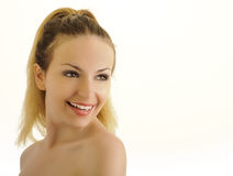 Happy woman with beautiful white teeth Royalty Free Stock Photos