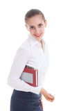 Happy woman with books Royalty Free Stock Images