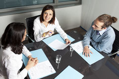 Happy woman at business meeting Royalty Free Stock Images
