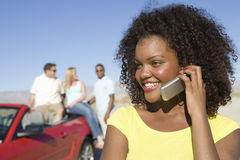 Happy Woman On A Call Royalty Free Stock Image