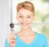 Happy woman with car key Stock Image