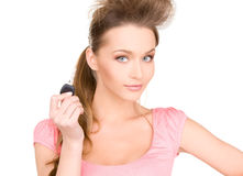 Happy woman with car key Stock Photography