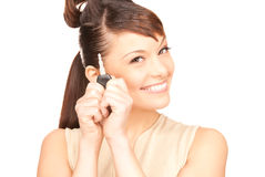 Happy woman with car key Royalty Free Stock Image