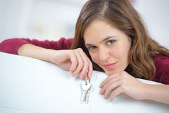 Happy woman with car keys Stock Image