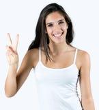 Happy woman celebrating something Royalty Free Stock Photos