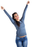 Happy woman celebrating something Stock Photo