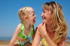 Happy woman with child Stock Image