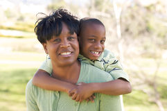 Happy Woman and Child Stock Photo