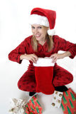 Happy woman on Christmas Stock Photos