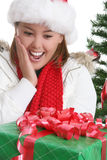Happy woman at Christmas Stock Photos