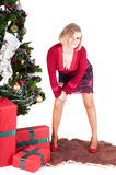 Happy woman with Christmas presents Stock Photography