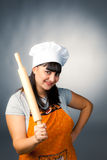 Happy woman cook Royalty Free Stock Photo