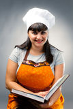 Happy woman cook Stock Image