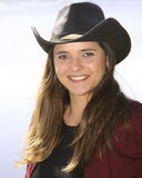 Happy woman in cowboy hat Royalty Free Stock Photo