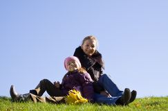 Happy woman with daughter s Stock Photos