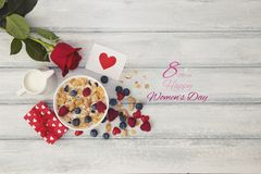 Happy Woman Day March 8th message royalty free stock photos