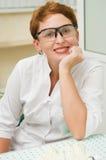 Happy woman dentist Royalty Free Stock Photos