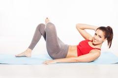 Happy woman doing aerobics Royalty Free Stock Image