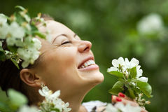 Happy woman dreaming Royalty Free Stock Photography