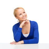 Happy woman dreaming Stock Images