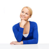 Happy woman dreaming Royalty Free Stock Photos