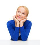 Happy woman dreaming Royalty Free Stock Image
