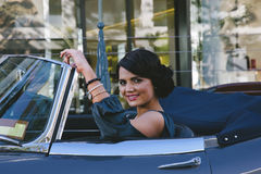 Happy woman driving Royalty Free Stock Photography