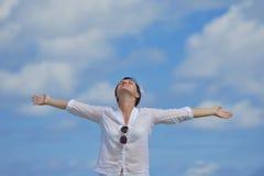 Happy woman enjoy  summer time Stock Photo