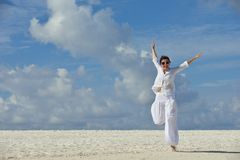 Happy woman enjoy  summer time Stock Photography