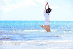 Happy woman enjoy summer vacation Stock Photos