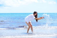Happy woman enjoy summer vacation Royalty Free Stock Photo
