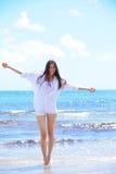 Happy woman enjoy summer vacation Royalty Free Stock Photography