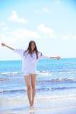 Happy woman enjoy summer vacation Royalty Free Stock Image